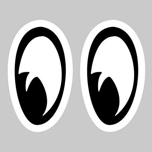 Autocollant Oeil Stickers Yeux - 20cm x 16cm, Noir