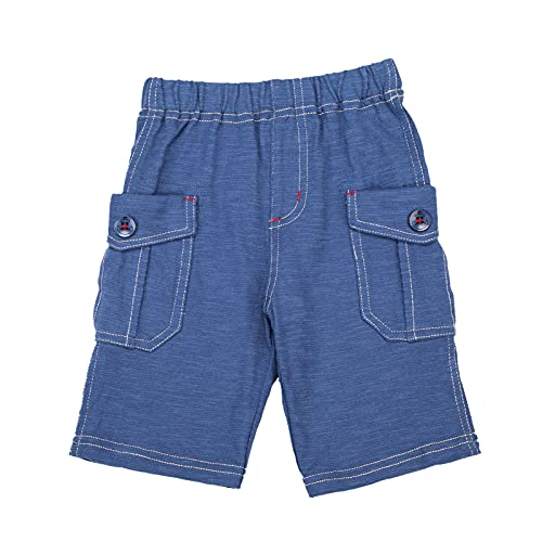db11 Shorts Jeans for Kids Unisex Cotton Summer Casual Loose with Button Pocket Bottoms 3 T Dark Blue