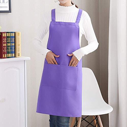 YXDZ (2 Stücke Erwachsene Chef Brot Dessert Pizza Shop Arbeitskleidung Ölbeständige Männer Und Frauen Milch Tee Kaffee Maniküre Shop Taille Lila