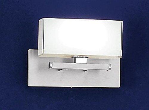 Bankamp Leuchten 4163/1.92 Wandleuchte Cube Nickel matt mit Chrom abgesetzt 1 x 33 W. ES