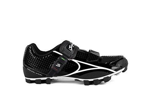 Spiuk Risko MTB - Zapatillas unisex, color negro / blanco, talla 39