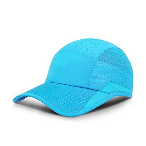 ZEARE schnell trocknend wasserdicht atmungsaktiv Hut Polyester Baumwolle Sonnenhut leichte Baseballmütze Sport Cap Unisex (Himmelblau 0703)