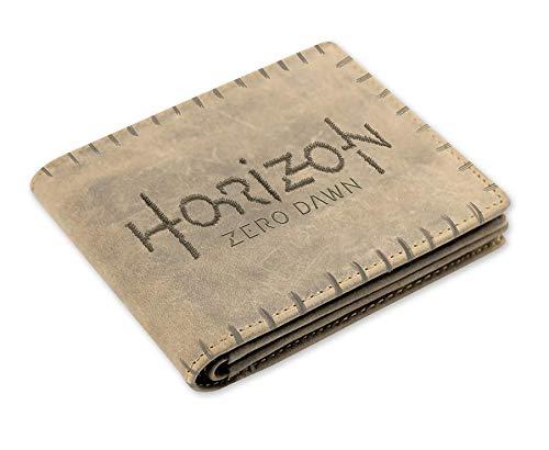 Horizon Zero Dawn Geldbeutel Aloy, aus Leder in Braun, 12x10 cm groß