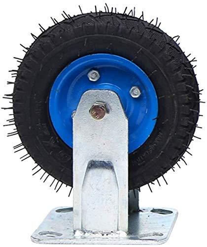 Zaun Tor Räder mit Metallplatten Heavy Duty Caster for Trolleys Pritschen Gerüstbau Logistik Einzel Radlast: 150kg Größe: 6 Inches (Color : A, Size : 6in)