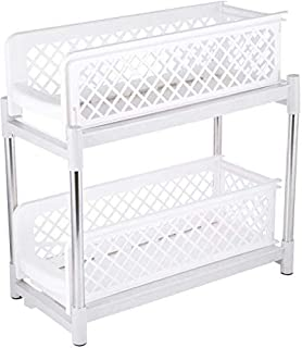 Madisaa Portable 2-Tier Basket Drawers for Kitchen and Bathroom