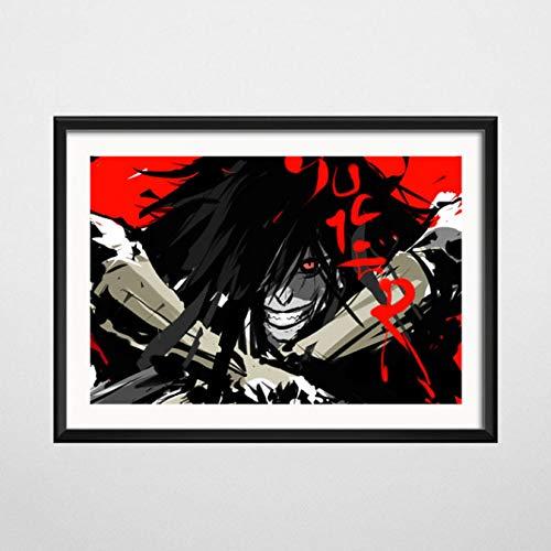 Creative Mode Moderne Hellsing Vampire Klassische Japanische Film, Kunst, Seide, Malerei auf Leinwand, Wandbild, Dekoration, für zu Hause, ohne Rahmen, 50 x 70 cm