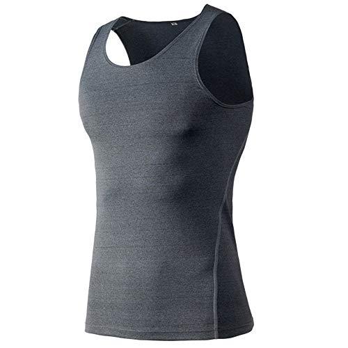 Belleashy Camisa de fitness para hombre, para hombre, para adelgazar, para ciclismo, entrenamiento, entrenamiento, fitness, 6 colores (color gris, talla S)