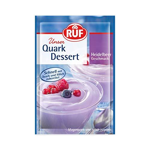 RUF Quark-Dessert Heidelbeer fertig in 3 Minuten, 20er Pack (20 x 55 g)