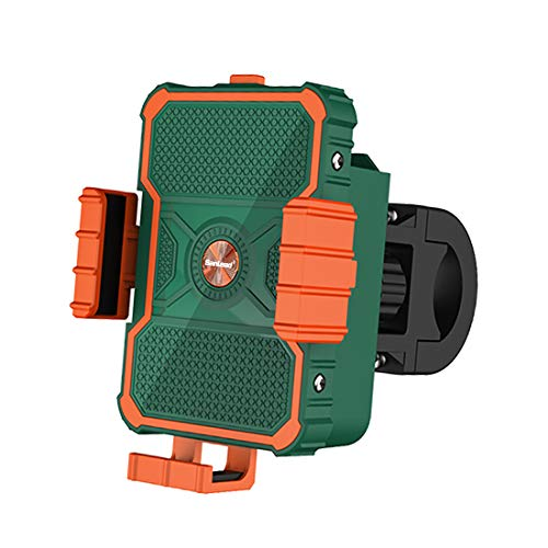 SanLead Support de Téléphone Portable pour Vélo avec Compartiment à Piles Support d'Équitation Rotatif à 360°pour Motos, Vélos, Poussettes et Tous Les Téléphones Portables 4,7\