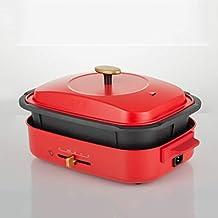 NXYJD Grill Pot & Skillet, Multifonctions Marmite Cuisinière électrique Hot Pot Barbecue Une Nette des ménages électrique ...