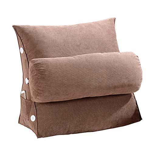 JHKGY Wedge Pillow, Adjustable Throw Cushions,Wedge Shaped Reading And TV Pillow,Back Support Lumbar Pillows, with Removable Cover, for Sofa/Bed Backrest,45×22×45cm