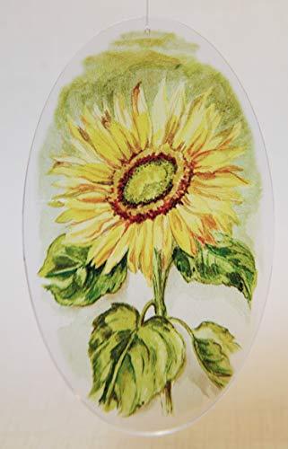 Acrylglas Fensterbild Sonnenblume retro oval 6x10m