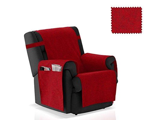 JM Textil Sesselschoner Pharma Größe 1 Sitzer (55 cm), Farbe Rot