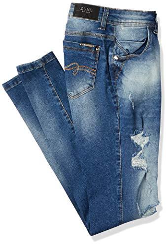 Jeans Skinny, Zune Denim, Feminino, Índigo, 36