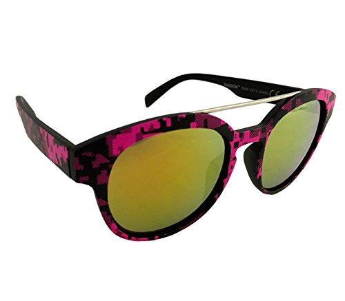 Dasoon Vision Gafas de Sol con Estampado geométrico fucsias