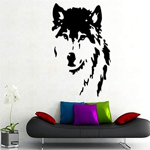 Tianpengyuanshuai Umweltschutz Wolf Aufkleber Tierkunst kreative abnehmbare Wandaufkleber Vinyl Aufkleber 57X90cm