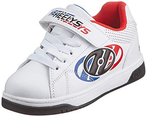 Heelys Jungen Swerve X2 Schuhe mit Rollen, White/Blue/Red, 31 EU