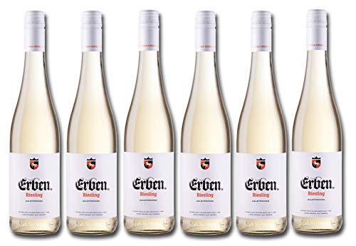 Erben Riesling Halbtrocken – Weißwein aus Deutschland – Qualitätswein – 6 x 0.75 l