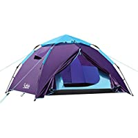 Sable Pop Up Beach Tent Purple, Sun Shelter 2 3 Man Tent for Kids Adults Windproof Waterproof and Quick Set-up, with…