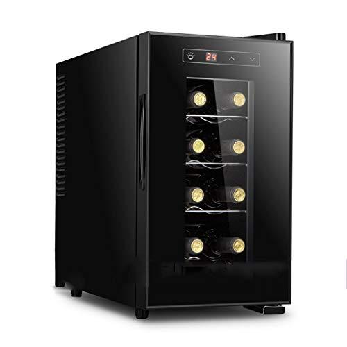 XJBHRB Weinkühler, 8 Flaschen Weinkühlschrank Freistehender Unterbau-Kühlschrankschrank - Digitaler Weinkühler und -wärmer (schwarz)