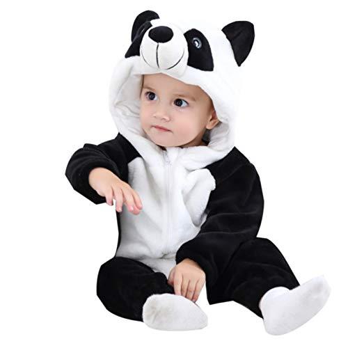 WSLCN Unisex Bambino Neonati Pagliaccetto Tuta Tuta Intera con Cappuccio Cartoon Pigiama Sleepsuits 21-C 12-18 Mesi