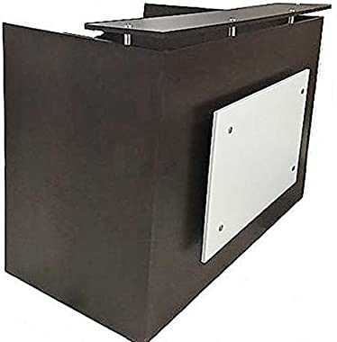 "DFS Reception Desk Shell which fits a 15"" Monitor - 60"" W by 30"" D by 44"" H Espresso- and White Front"