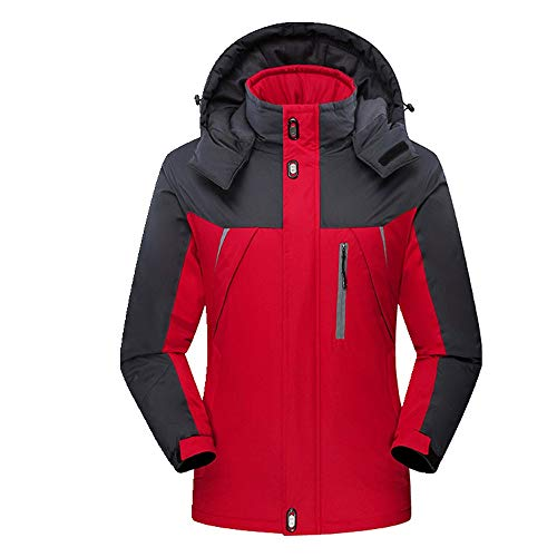 Chaqueta de felpa para hombre, impermeable, resistente al viento y al frío, cálido traje de montañismo