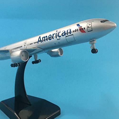 No American Airlines Boeing 777 Modelo de avión de aleación de Metal Fundido a presión Modelo de avión 20CM
