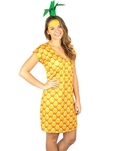 Goldschmidt Kostüme Ananas Kleid mit Haarreif exklusiv Kostüm (44/46)