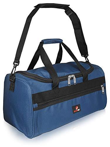 Bolsa de Viaje Pequeña - 2º Artículo de Equipaje de Mano en Ryanair - Bolsas de Viaje Fabricada con el Tamaño Exacto de 40 x 25 x 20 cm - Bolso de Cabina - Super Ligero 0,4 kg RL59N (Azul)
