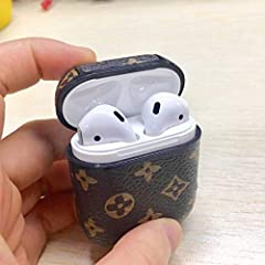 COMPATIBLE AIRPODS 2 &1: Specially designed for AirPods 2 & 1 charging cases. 1.5mm thickness, Protective without extra bulkiness. Precise cutouts for easy access to all functions without any interference. BEST MATCH: Very cute and classic Air pods c...