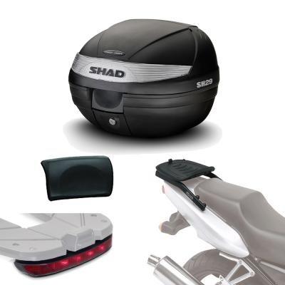 Sh29lurehe293 - Kit fijacion + Maleta baul Trasero + luz de Freno + Respaldo Regalo sh29 Compatible con KTM Duke 390 2011-2016 KTM Duke 200 2011-2016 KTM Duke 125 2011-2016