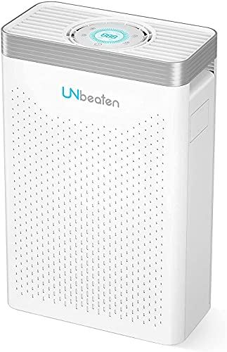 Air Purifier, UNbeaten Air Purifiers for Home Bedroom with H13 True HEPA Filter, Air Purifier Hepa for 70㎡ Large Room with 12H Timer and Auto Mode, Remove 99.97% Pollen, Smoke, Dust, Pets Hair