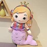 DINEGG Süße Meerjungfrau Puppe Kissen Plüsch Spielzeug Mädchen Bett Prinzessin Kinder Puppe Rag...