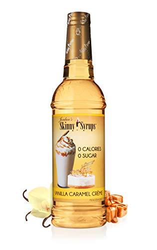 Jordan's Skinny Syrups Vanilla Caramel Crème, Sugar Free Coffee Flavoring Syrup, 25.4 Ounce Bottle