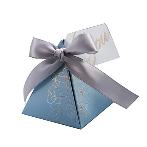 N-B Triangular Pyramid Candy Box Wedding Favors And Boxes Candy Bags For Guests Wedding Decoration Baby Shower Party Supplies