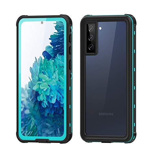 Aosailjet Funda Impermeable Samsung Galaxy S21 Plus [Anti-rasguños][Protección de 360 Grados],Case Protectora con Protector de Pantalla Incorporado para Samsung Galaxy S21 Plus (Azul)