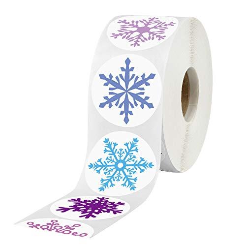 Figura de copo de nieve Navidad Año Nuevo Regalo Etiqueta de la Fiesta Decoración de Fiesta Felices Fiestas Sellado Etiqueta Mano Cuenta Material 500 Hojas