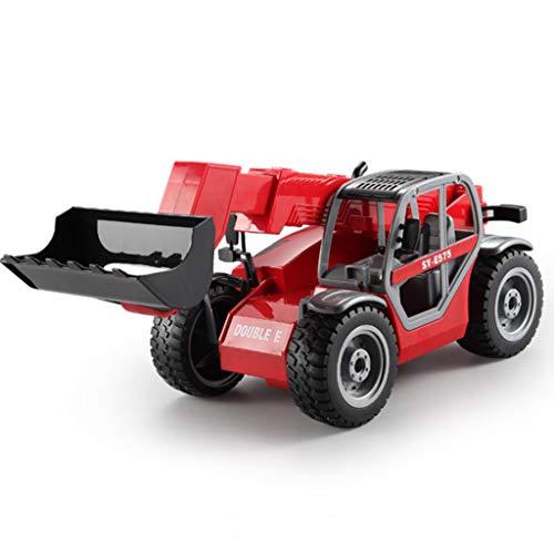 IIIL Telescópica Modelo Brazo Excavadora Juguete Control Remoto, Tractor Camión Vehículo 1:20 Controles Remotos Tractor Sonidos RC Juguetes para Exteriores 2,4 GHz