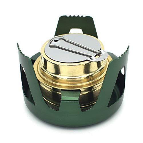 Mini Alcohol Stove for Backpacking ? Stainless Steel Camping Cookware ? Lightweight Backpack Stove ? Mini Wood Burning Stove for Camping and Hiking ? Gasifier Camp Stove