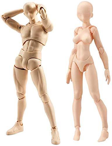 HYCy 15 cm Modell/Modell/Zeichnung aus Gelenkfigur mit beweglichen Schriftelementen Kun und Chan PVC, Version Männliches/weibliches männliches oder weibliches Ensemble +, Cuir, Hombre + Mujer