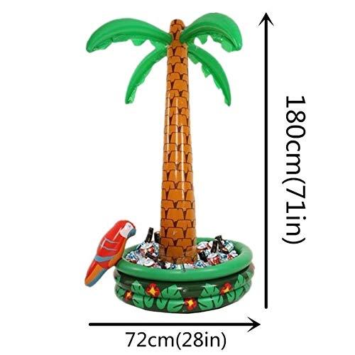 JIUYUE Dispositivo di Raffreddamento Gonfiabile Ice Bucket Hawaii Palma da Cocco Ice Drinks Buffet Gonfiabile (Color : B)