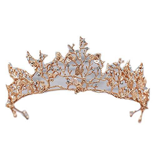 OMKMNOE Princesa Tiara, Crown Halloween Disfraz Accesorios Fiesta De Cumpleaños Diadem Boda CUADRAL DIEADORES Tiara Cristal DE Lujo DE LUJOS Accesorios,1