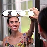 Alisuho. AYSM 2 STÜCKE 4 Led-lampen Bilden Licht Super Helle Tragbare Kosmetikspiegelleuchte...