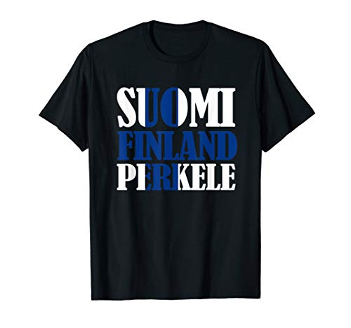Suomi Finnish Flag Finnland Perkele Ice Hockey T-Shirt