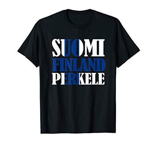 Suomi Finnish Flag Finnland Perkele Ice Hockey T-Shirt