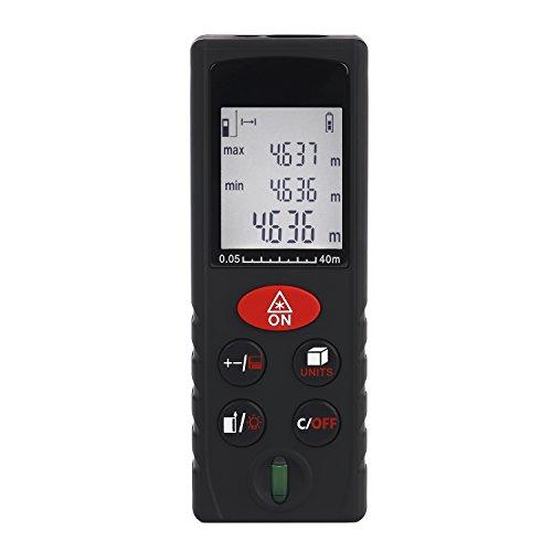 Tsing Tragbarer digitaler Entfernungsmesser IP54, staubfest, misst Distanz in Metern (3Messbereiche zur Auswahl: 40m 60m 80m)