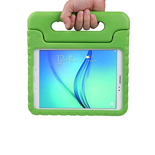 LEADSTAR Kids Case for Samsung Galaxy Tab A 9.7 Shockproof Case Light Weight Super Protection Cover Handle Stand Case for Kids Children For Samsung Galaxy Tab A 9.7-inch SM-T550 SM-P555 (Green)