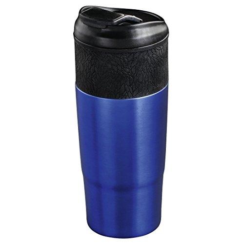 """Xavax Isolierbecher """"Everyday"""", 400ml (für Heiß- und Kaltgetränke, doppelwandig, Schraubverschluss) Coffee-to-go Trinkbecher blau"""