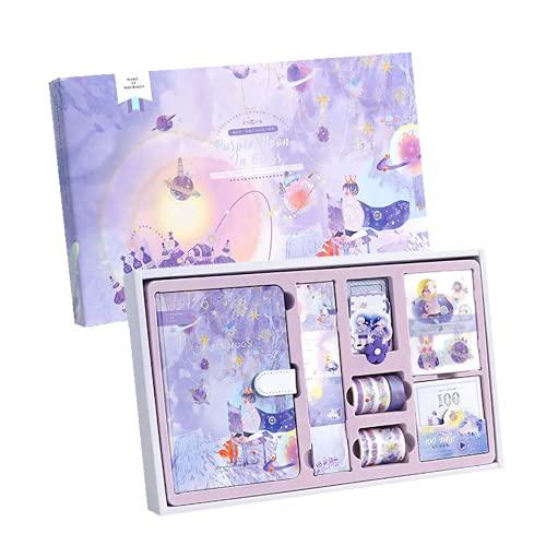 Pequeño príncipe Diario Set 147 piezas: Cuaderno con accesorios DIY Bullet Journal, kawaii creativo papelería, caja de...